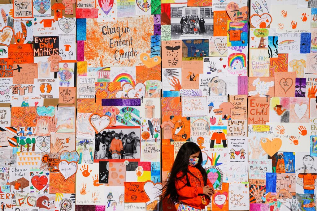 remember me, september 30, orange shirt day, ottawa, pass the feather, indigenous arts collective of canada, residential school, graves, remembrance day, sixties scoop, window decal,truth and reconciliation